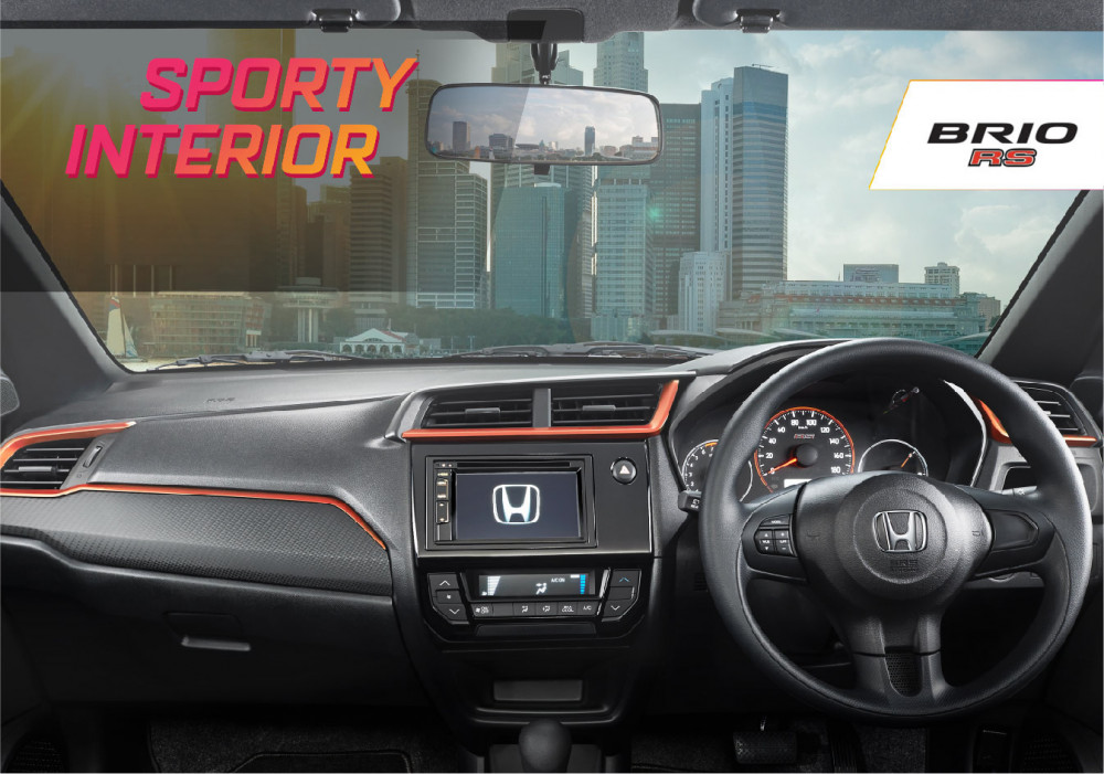 08 Sporty Dashboard Design with Orange Lining (RS)