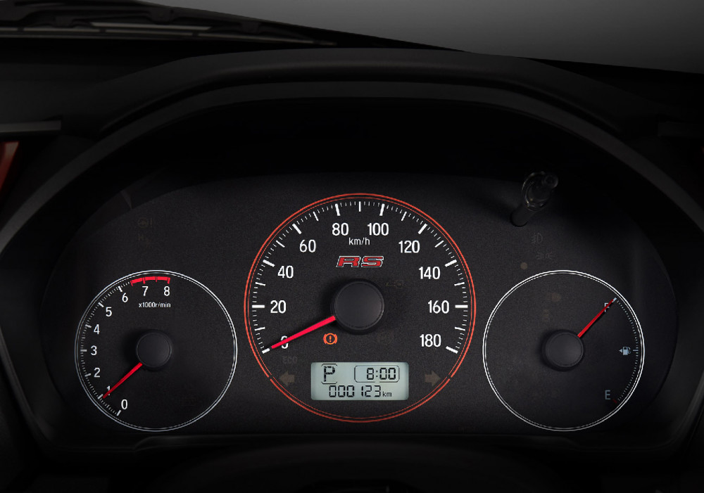 10 Sporty Meter Cluster with RS Logo